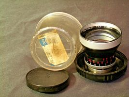 Carl Zeiss Pro-Tessar Lens f=85mm with fitted Zeiss Ikon Case AA-192031 Vintage image 8