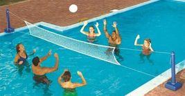 Swimline 9186 Cross Inground Swimming Pool Fun Volleyball Net Game Water... - $59.72