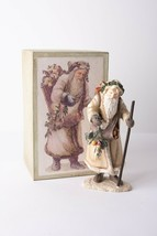 Department 56 Kris Kringle Santa Sculpture Walking Stick Sack Toys Origi... - $49.49