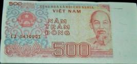 500 VIETNAMESE Dong Banknote 1988, P-101, UNC USA Fast Free Ship - $0.98