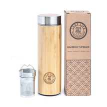 Original Bamboo Tumbler with Tea Infuser & Strainer by LeafLife | 17oz S... - $35.23