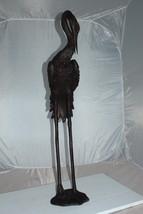 """Crane head down fountain Bronze Statue -  Size: 10""""L x 9""""W x 44""""H. - $840.00"""