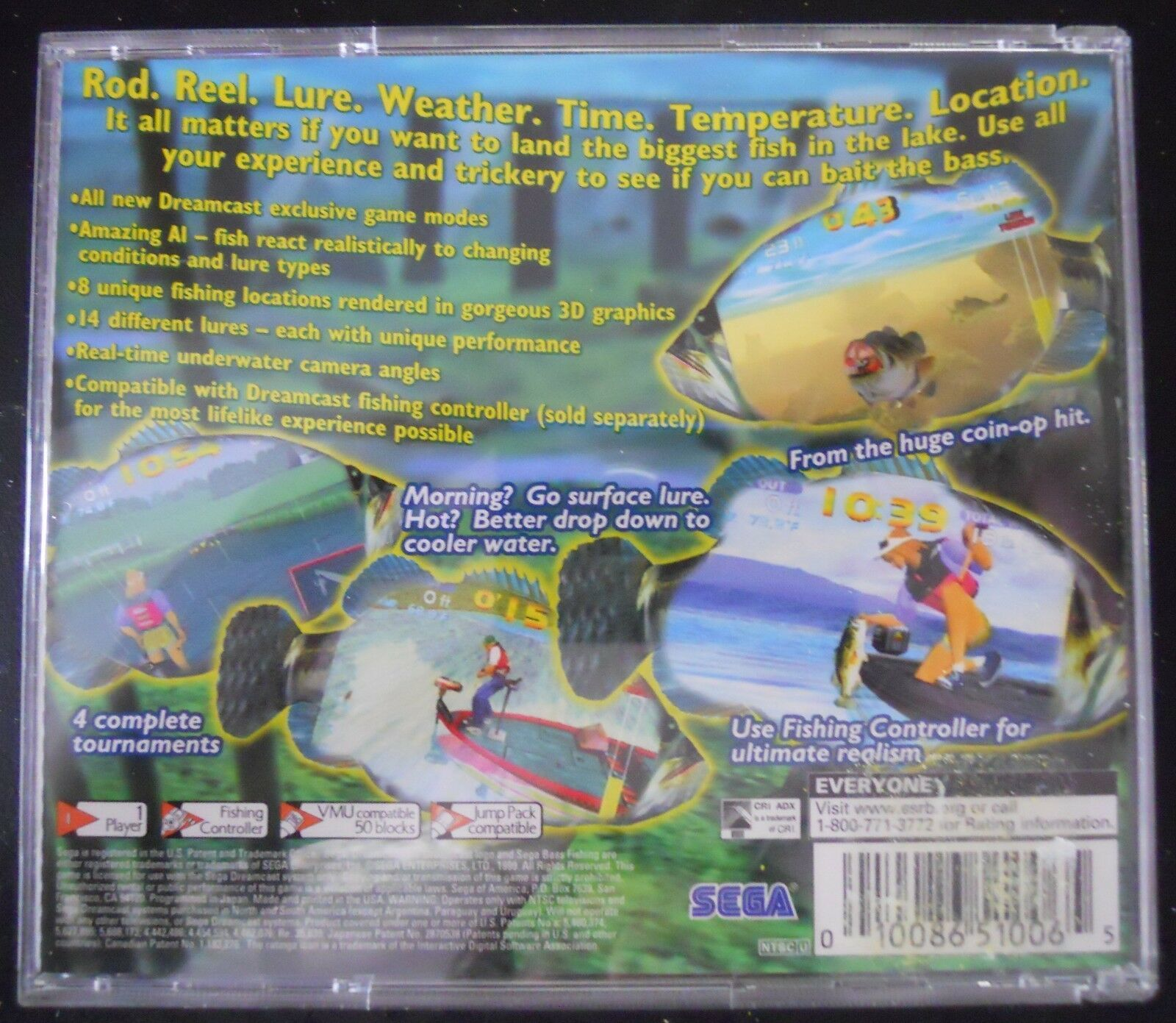 Sega Bass Fishing Dreamcast DC Video Game 1999