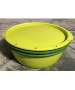 Tupperware Smart Steamer Green Lid, Bowl 6988 6509 6504 Microwave Cooker - $24.74