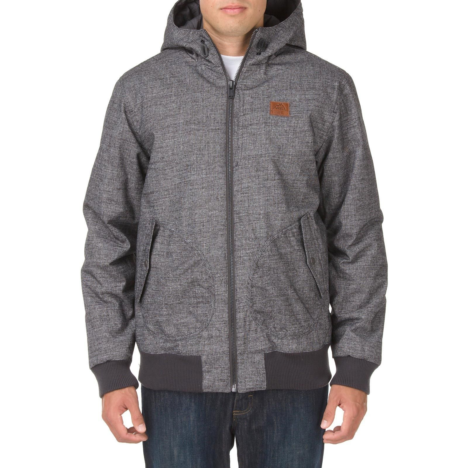 Vans Men's RUTHERFORD MOUNTAIN EDITION Hooded Jacket Coat Gray/Black PARKA SMALL