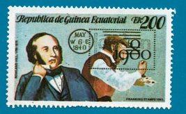 Republica De Guinea Ecuatorial Awn 200 Multicoloured Sir Rowland Hill 1980 - $1.99