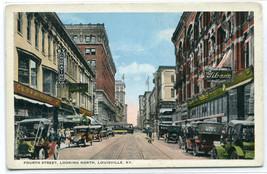 Fourth Street Cars Louisville Kentucky 1920c postcard - $6.93
