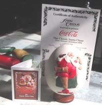 Vintage Coca Cola Santa Claus Royal Orleans Egg Santa Claus 1984 COA - $27.76