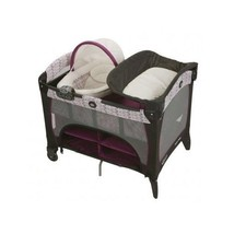 Graco Infant Girls Deluxe Pack N Play Bassinet Diaper Changer Storage Tr... - $170.27
