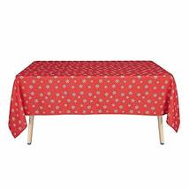 Party Christmas Tablecloth Rectangle Wrinkle Scratch Resistant Table Cov... - $23.76