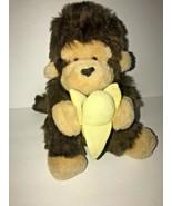 "Ganz Joji Monkey Banana Brown Furry Heritage Collection 10"" 1992 Plush   - $43.44"