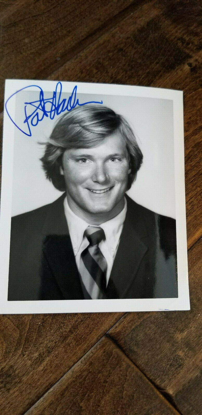 Primary image for 1973 USC Trojans SIGNED AUTO TEAM ISSUE PHOTO CARD PAT HADEN Rams Sun