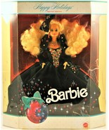 Barbie Happy Holidays 1991 Special Edition Christmas Green Velevt Dress ... - $24.74
