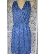 CHELSEA&VIOLET Stretch Sequined Sleeveless V-Neck Shirt TOP MINI DRESS S... - $14.01