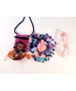 Stress Relief and Anxiety Crystal Healing Pouch + Rose Quartz Bracelet - $32.88 CAD