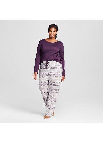 NWT Gilligan & O'Malley Women's Purple Plus-Sized 3-Piece Size Small Pajama Set - $14.84