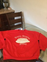 NWOT Happy Birthday Jesus Red Christmas Sweatshirt Large New Without Tags - $12.86