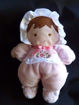 """Carters My First Doll Soft Plush Pink Hat Bonnet Kitty Slippers Rattle 8"""" - $16.61"""