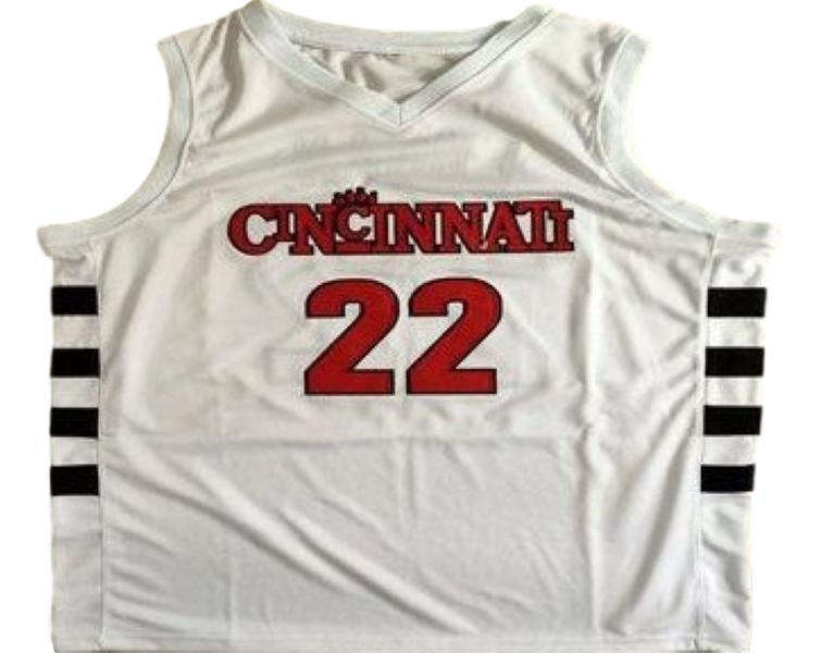 Steve logan  22 cincinnati bearcats basketball jersey white 1