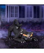 Halloween Decoration Holiday Spooky Decor Inflatable Animated Prop Black... - $89.99
