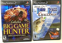 Lot of 2 Complete PS2 Games Rapala Pro Fishing & Cabela's Big Game Hunter - $13.93