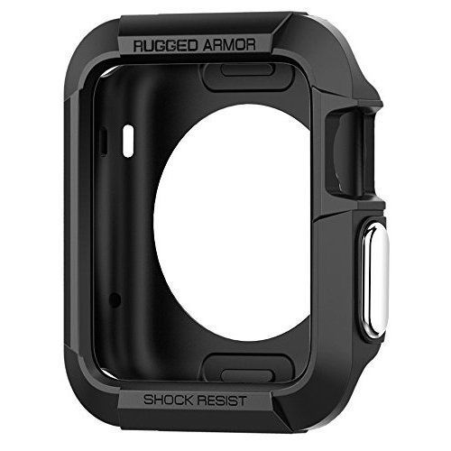Rugged Armor Case For Apple Watch Series 1 2 2015 42mm Ultimate Protection Black