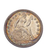 1855 10C Seated Dime in AU Condition, Some Nice Toning on Both Sides - $178.75 CAD