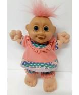 "Vintage Russ Girl Troll Doll 8.5"" Custom Navajo Indian Costume No 259 Pi... - $29.69"