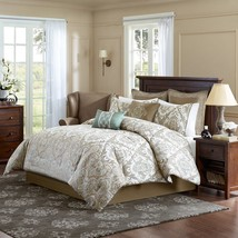 Luxury 8pc Brown & Ivory Paisley Medallion Comforter Set AND Decorative Pillows - $199.49+