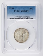 1930 25C Standing Liberty Quarter Graded by PCGS as MS64FH! Gorgeous Quarter! - $427.68