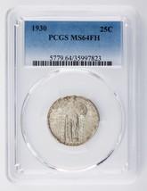 1930 25C Standing Liberty Quarter Graded by PCGS as MS64FH! Gorgeous Qua... - $427.68