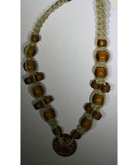 Africa Hand Made Woven Trade Bead Necklace 14in - $19.50