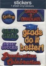 Puffy Vinyl Graduation Stickers - $1.99