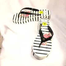 8643bac73f53 Kate Spade Remmie Wedge Flip Flop Platform Sandals Flamingos 9 Black White  Shoe -  27.63