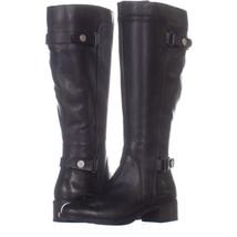 Franco Sarto Crash Wide Calf Riding Boots 706, Black/black, 6 US - $49.91