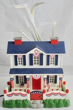 Patriotic Lighted Fiber Optic House July 4th Fireworks Light Up Holiday Display - $69.29