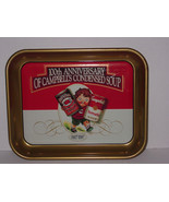 CAMPBELL'S SOUP 1997 100th ANNIVERSARY METAL SERVING TRAY BEST OFFERS WE... - $17.09