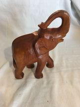 Handmade Wood Hand Carved Elephant Home Made Wooden Carving African Elephant image 3