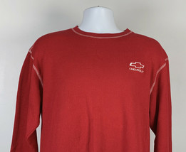 Chervrolet Embroidered Logo Thermal Shirt Mens XL Red White Stitching Co... - $26.68