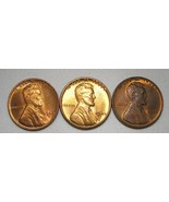 1945-P, D & S Lincoln Wheat Cents (3 Coins) Lot AE983 - $14.50