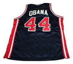 Barack Obama #44 Team USA New Men Basketball Jersey Navy Blue Any Size image 4