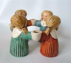 Vintage Goebel W German Circle of Girls Ring Candle Holder 4 cups HX 326... - $28.70