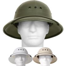 Pith Helmet Lightweight Safari Hat Sun Rain Plastic Vietnam Jungle Milit... - $23.99