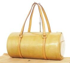 Authentic LOUIS VUITTON Bedford Beige Vernis Leather Hand Bag Purse #33635 - $195.00