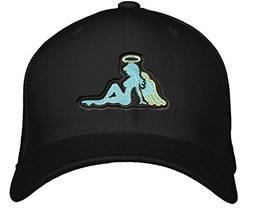 Angel Mudflap Girl Hat - Adjustable Black Cap - $15.79