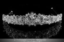 Ingrid Royal Cluster Silver Tiara | Swarovski Crystal - $134.95
