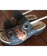 SEYCHELLES SANDALS Womens Anna Black Buckle Leather Low Heel sandals 7.5... - $22.44