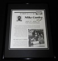 Mike Conley Signed Framed 11x14 1991 Foot Locker Slam Fest Photo Display  - $60.41