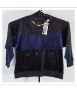 Champion Elite Women's Velour Pullover Hoodie Sweatshirt L/Black/Navy - $39.99