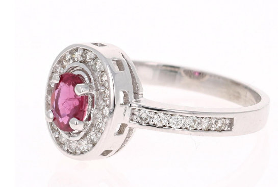 925 Sterling Silver Natural A+ Quality Ruby And Cz Gemstone Handcrafted Design W image 3